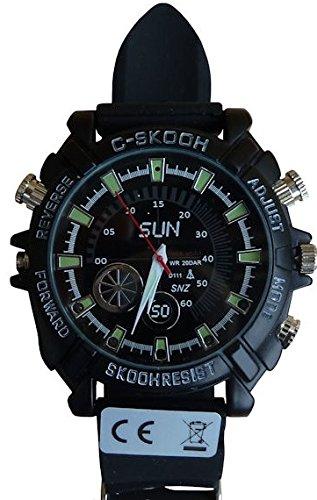 Full HD Armbanduhr Kamera Wecker K34, getarnte Überwachungskamera, Langzeitüberwachung Versteckte Videoüberwachung, Spy Cam, von Kobert-Goods