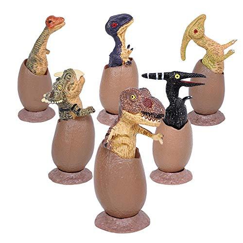 FOONEE Grow Dinosaurier-Ei, Dinosaurier-Eier, Spielzeug 6 Stück Mini Dinosaurier Figuren für ()