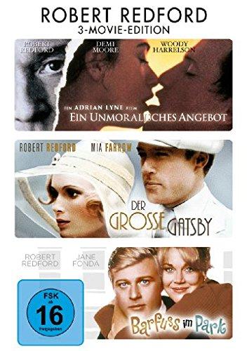 Bild von Robert Redford ( Ein unmoralisches Angebot / Der Grosse Gatsby / Barfuss im Park ) [3 DVDs]
