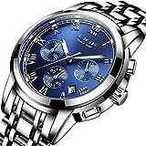 LIGE Relojes Hombre Moda Acero Inoxidable Impermeable Reloj Hombre Militar Deportes...