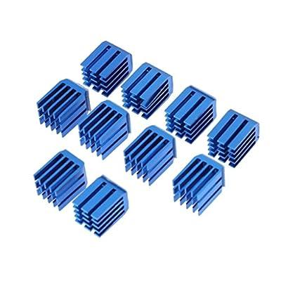 Gazechimp 10 Stk. 9x10x11mm Aluminium Kühlkörper Kühlkörper Cooling Fin für 3D Drucker