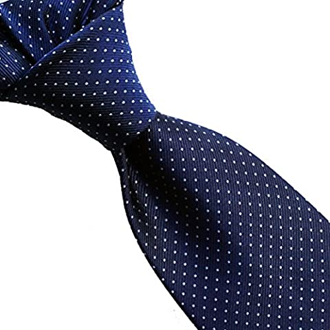 100% pure silk woven neckties POLKA DOT (03navy/blue)