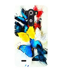 printtech Colored Butterfly Animated Back Case Cover for LG G3 / LG G3 D855 / LG D850 / LG D851