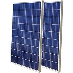 Eco-Worthy Lot de 2 panneaux solaires en polyéthylène haute efficacité 200 W 100 W