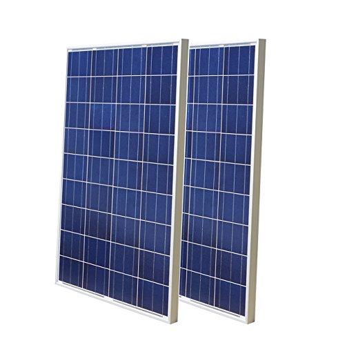200 Watt Solar-panel Wohnmobil (200W 218V 100W Hocheffiziente Poly Solarmodule ideal für 12V/24V Akku Ladekabel auf Wohnmobil-Boote Wohnwagen Wohnmobil)
