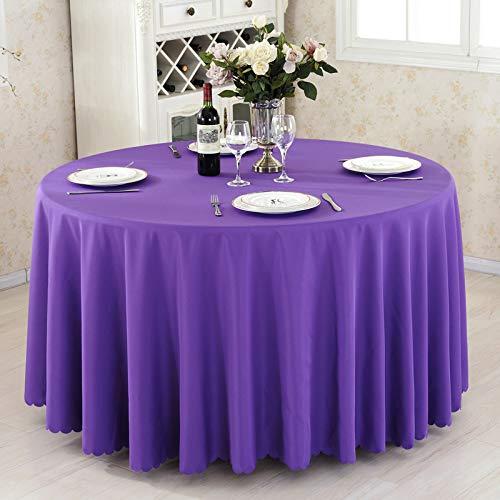 AOyEKXD Tischdecke Konferenztischdecke Tischdecke Stoff Baumwolle und Leinen frisch rechteckige runde Tischdecke 95 Zoll Runde