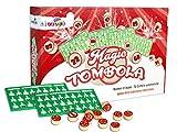 Vetrineinrete Tombola Magica Automatica con segnalini scorrevoli Copri Numero 72 cartelle Numeri in Legno e cartellone Sacco per numeretti Giochi di Natale Bingo E23