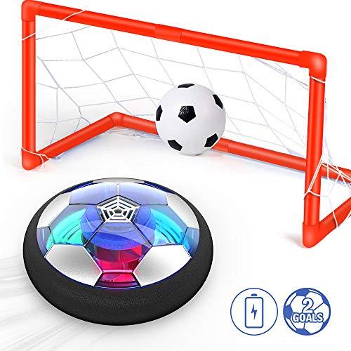 Ucradle Air Power Fußball Set Inkl. 2 Tore - 2019 Wiederaufladbar Hover Ball Indoor Football mit LED Beleuchtung, Super Spaß beim Fußballspielen in Innenräumen, Perfekt für Kinder Jungen Mädchen