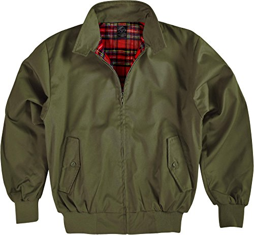 Original GearUp® Harrington Jacke English Style in 12 verschiedenen Designs wählbar Oliv