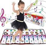 Estera Para Piano Musical Estera Para Piano Teclado deJuego Manta Musical Educativa Electrónica Portátil con 10 Luces LED Parpadeantes Función de Grabación y Altavoz Regalos Para Niños