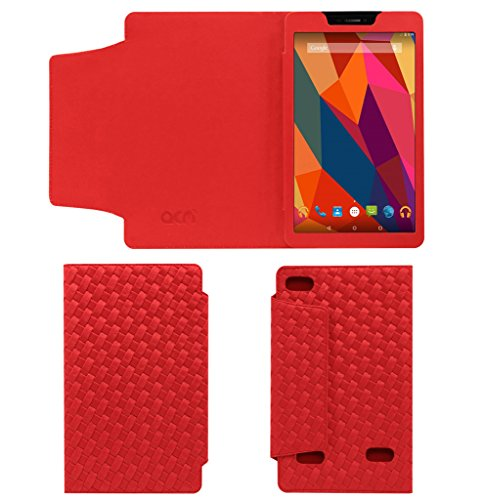 Acm Designer Tri-Fold Executive Leather Case for Micromax Canvas Tab P680 Tablet Flip Cover Red  available at amazon for Rs.269