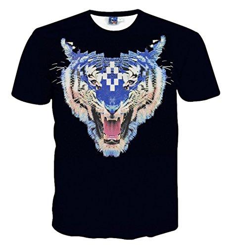 Yonbii  Herren T-Shirt Multicoloured-R10