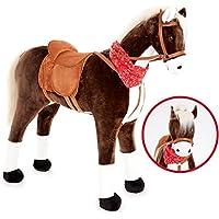 Knorrtoys Großes XXL Standpferd Liana mit Sattel Braun Pferd Stehpferd Reitpferd Reiten preisvergleich bei kleinkindspielzeugpreise.eu