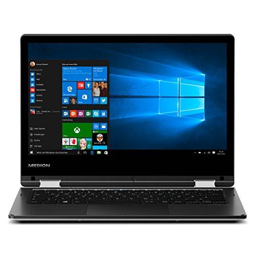 MEDION AKOYA E2221T MD 60620 (11,6 Zoll HD Display) Convertible Touch-Notebook (Intel Atom x5-Z8350, 2GB RAM, 64GB Flash-Speicher, Intel HD-Grafik, Win 10 Home) silber
