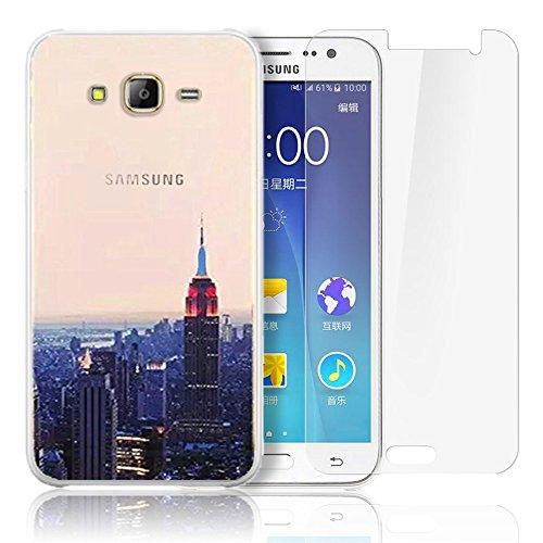 Samsung Galaxy J500 Cover,Samsung Galaxy J5(2015) Custodia , Paesaggio Scenario Ultra Sottile PC Opaco trasparente Back Protettiva Case + 1x Protezione Dello Schermo Screen Protector - Mountain 02 model 5