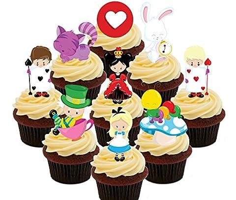 Alice au pays des merveilles comestibles pour cupcakes Party Pack–Col