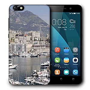 Snoogg White Yards Printed Protective Phone Back Case Cover for Huawei Honor 4X