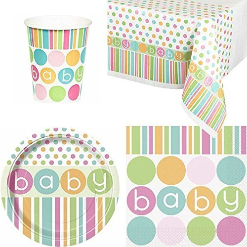 Party Bags 2 Go Pastel Baby Shower Party Tableware Pack