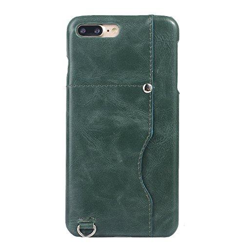 iPhone 8 Plus Hülle, Valenth [Card Slot] Schützende Shockproof Back Hülle Cover für iPhone 7 Plus / 8 Plus Grün