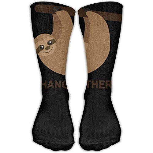 Funny&shirt Sloth Hang In Tree Unisex Novelty Crew Socks Ankle Dress Socks Fits Shoe 19.68 Inches