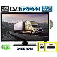 "MEDION 18,5""Zoll 47cm 12V & 24 Volt 230 Volt DVD-PLAYER DVB-S2/C/T2 H.265 HEVC LKW TRUCK 12/24Volt"