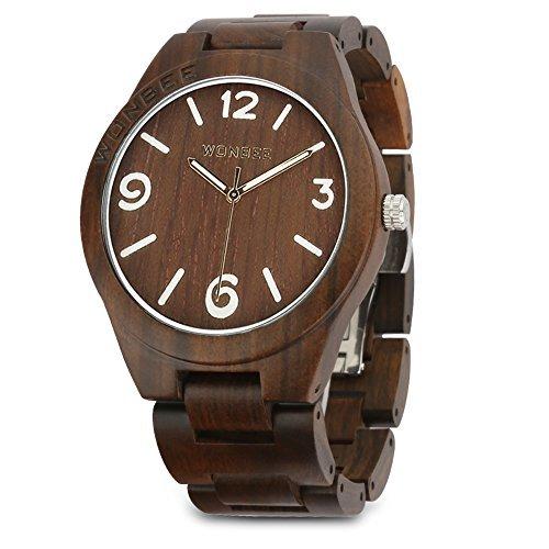 aecd9e70af8e Compara Precios Para Reloj de madera Wonbee para hombres y  mujeres-Artesanía hecha a mano relojes de madera-banda de madera del reloj  –bisel de madera- ...