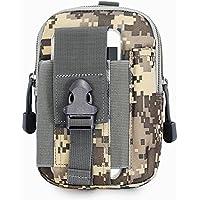 Aiyuda per esterni tattico Sacca Molle EDC Utility Gadget cintura marsupio con porta cellulare fondina, uomo, ACU Camo - Camo Tactical Paintball