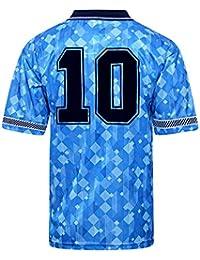 Official Retro England 1990 World Cup Finals Third No10 Shirt 100% POLYESTER