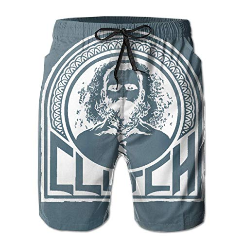 Feng Huang Herren Clutch Band Badehose Quick Dry Lace Strand Board Shorts Mesh Beachwear M - Lace Mesh Band