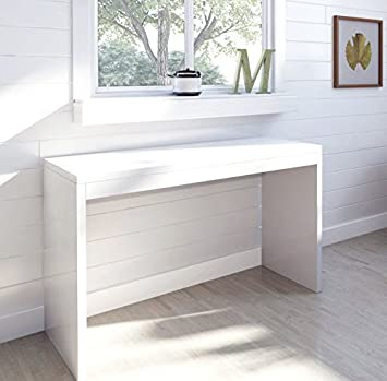 White High Gloss Console Table Dressing Table (White High Gloss)