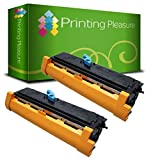 2 Toner pour Epson EPL-6200, EPL-6200L, EPL-6200N / C13S050166 (S050166) / C13S050167 (S050167) Noir / Black • Premium Qualité