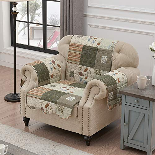 Greenland Home Sedona Slipcover, Arm Chair, Desert Mist - Sedona Stripe