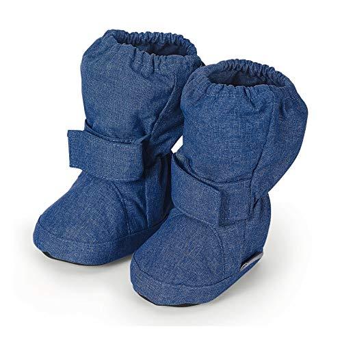Sterntaler Mädchen Baby Stiefel mit Klettverschluss, Blau (Tintenblau Mel. 376), 22 EU