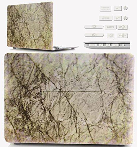 Macbook Retina 12 pollici Custodia Copertina - Ultra Slim Notebook Laptop Case Plastica Cover Rigida Duro Paraurti in Marmo Solido Modello Fessura Caso per Apple The New Macbook 12