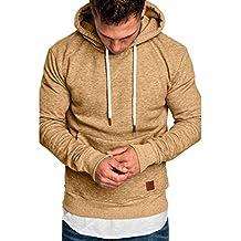 Yvelands ¡Oferta Sudaderas con Capucha para Hombre Cosy Sport Outwear Sudadera con Cremallera Completa Ecosmart
