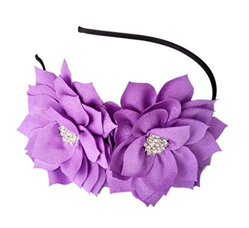 Haarspange Lotus Blume Braut Hochzeitsfeier Cocktail Headwear (Lila) ()