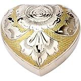 """Urns UK Cremation Memorial Heart Keepsake Urn Devon, Gold 3"""" Keepsake"""