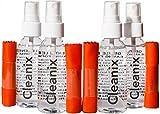 Quattro pulitori per occhiali da 2 Oz con quattro tessuti in microfibra per la pulizia degli occhiali e kit di pulizia dell'obiettivo - molto facile da usare
