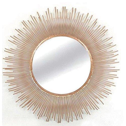 Espejo-de-pared-de-metal-redondo-diseo-de-sol-color-cobre