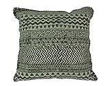 IHB Anthrazit Grau Geometrische Design Baumwolle Dhurrie Kopfkissen 50,8cm