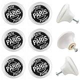 Jay Knopf 00046W_0006 - Juego de 6 tiradores para muebles, diseño de París, color negro