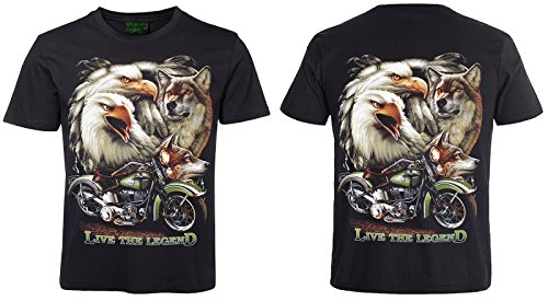 Biker T-Shirt Live the Legend Schwarz