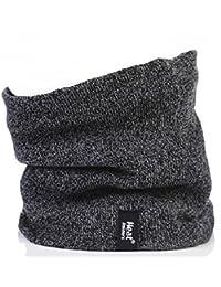 Mens GENUINE Thermal Fleece Winter Warm Heat Holders tog rating of 2.6 - Neck Warmer Snood Grey