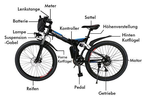 Ancheer Faltbares E-Bike - 4