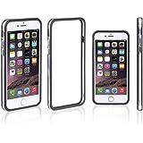 Xcessor Classic Bumper Étui Coque Housse Pour Apple iPhone 7 Plus. Caoutchouc et Plastique. Noir / Transparent