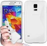 Cadorabo Silikon Hülle für Samsung Galaxy S5 / S5 NEO in HALB Transparent