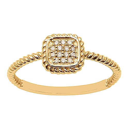Neues Design Diamant Rundschliff 14Kt Gelbgold Zirkonia Form Ring