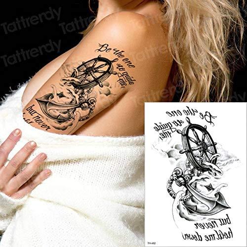 tzxdbh 2 Piezas Tatuaje Temporal Rosa brújula Manga Temporal Tatuaje Brazo Tatuaje...