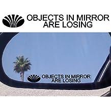 (2) espejo calcomanías