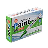 #4: STARILLO Permanent Paint Marker, Oil Based Ink - Green Color